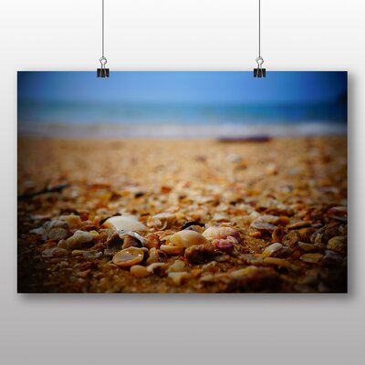 Big Box Art Sea Shore Photographic Print Wrapped on Canvas