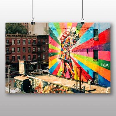 Big Box Art V-Day Kiss Graffiti Photographic Print