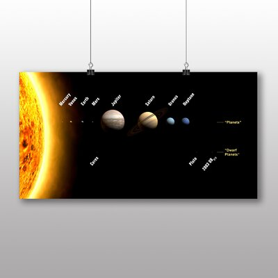 Big Box Art Solar System Planets Space Graphic Art Wrapped on Canvas
