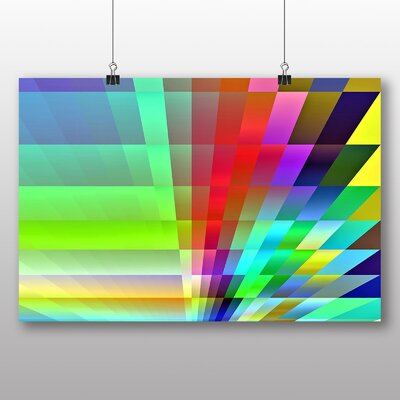 Big Box Art Rainbow Fractal Abstract Graphic Art Wrapped on Canvas