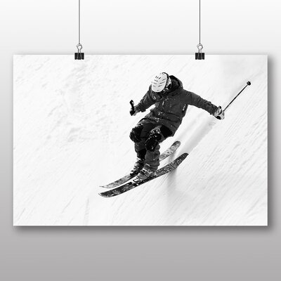 Big Box Art Skiing Photographic Print Wrapped on Canvas