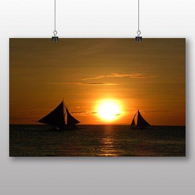 Big Box Art Sailing Boat Sunsets Photographic Print