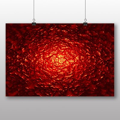 Big Box Art Red Abstract Design No.7 Graphic Art Wrapped on Canvas