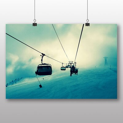 Big Box Art Ski Lift Skiing Snowboarding Photographic Print