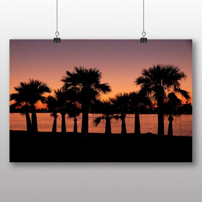 Big Box Art San Diego Sunset California USA Photographic Print Wrapped on Canvas