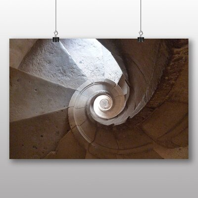 Big Box Art Spiral Staircase Photographic Print on Canvas