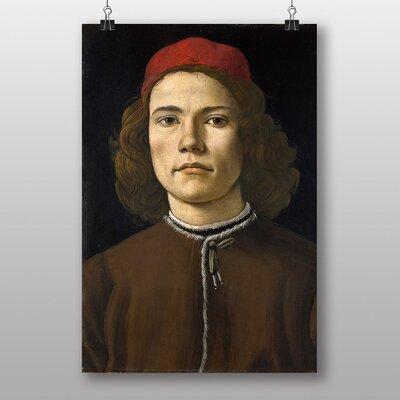 "Big Box Art ""Portrait of a Young Man"" by Sandro Botticelli Art Print"