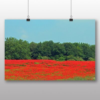 Big Box Art Poppy Field Flowers No.2 Photographic Print on Canvas