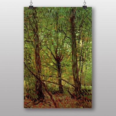Big Box Art Trees and Undergrowth by Vincent Van Gogh Art Print