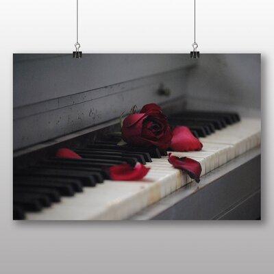 Big Box Art Rose Flower Piano Photographic Print