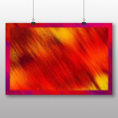 Big Box Art Red Abstract Design Graphic Art