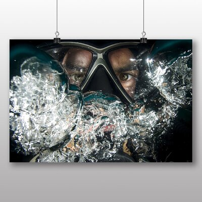 Big Box Art Scuba Diving Mask Photographic Print
