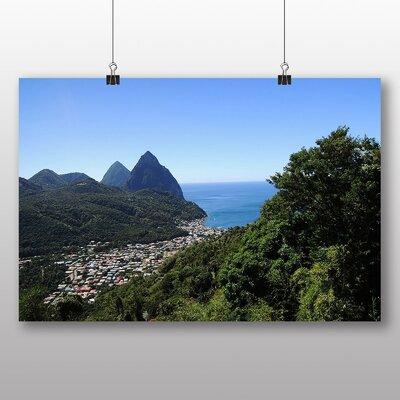 Big Box Art St Lucia Landscape No.1 Photographic Print on Canvas