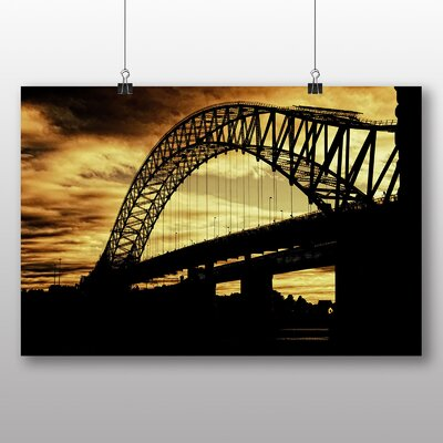 Big Box Art Silver Jubilee Bridge Manchester Photographic Print Wrapped on Canvas