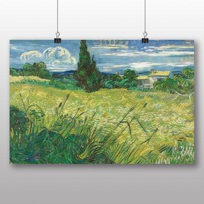 Big Box Art 'Green Field' by Vincent Van Gogh Art Print