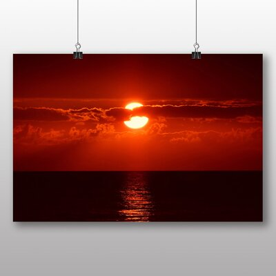 Big Box Art Red Florida Sunset USA Photographic Print