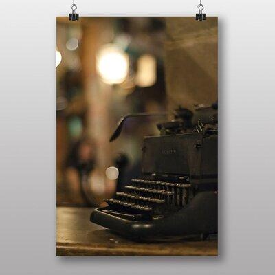 Big Box Art Vintage Antique Typewriter No.1 Photographic Print Wrapped on Canvas