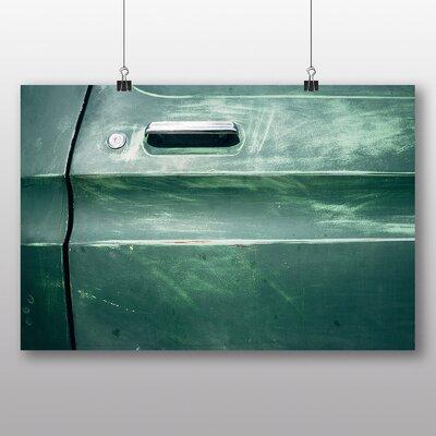 Big Box Art 'Vintage Car Green Door' Photographic Print