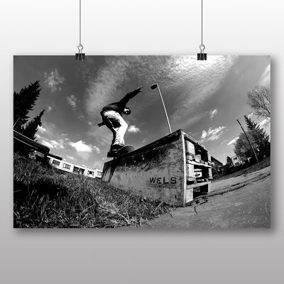 Big Box Art Skateboard Skateboarding No.4 Photographic Print Wrapped on Canvas
