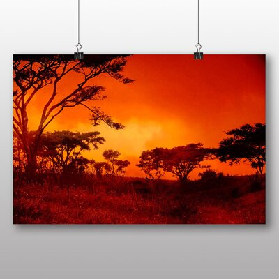 Big Box Art Red Sunset No.3 Photographic Print Wrapped on Canvas