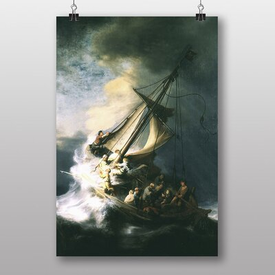 Big Box Art The Storm of the Sea of Galilee by Rembrandt Art Print