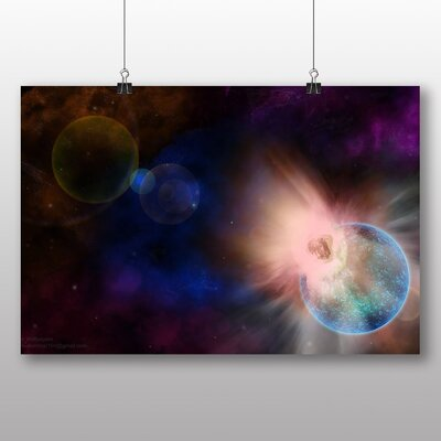 Big Box Art Space Planets No.6 Graphic Art on Canvas