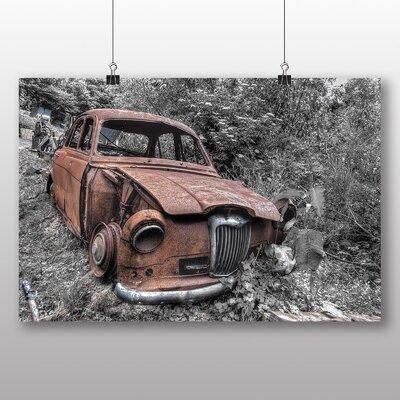 Big Box Art Vintage Classic Car Rusted No.8 Photographic Print