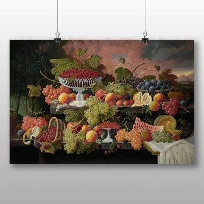 Big Box Art 'Still Life Fruit and Sunset' by Severin Roesen Art Print