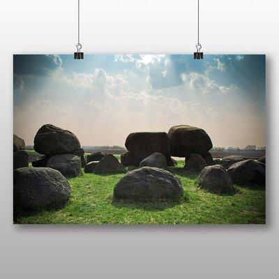 Big Box Art Stones Photographic Print Wrapped on Canvas