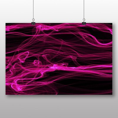 Big Box Art Smoke and Flames Abstract Graphic Art
