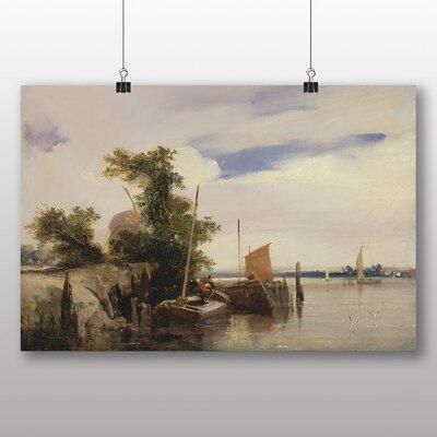 Big Box Art 'Barges on a River' by Richard Bonington Art Print