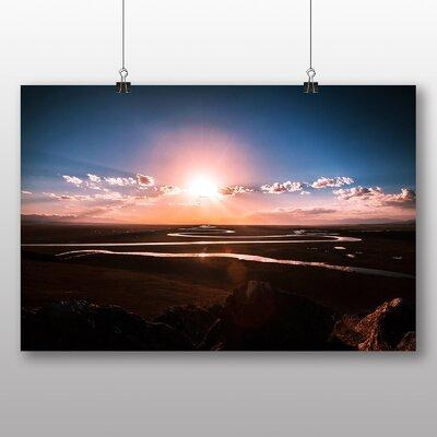Big Box Art River Landscape No.1 Photographic Print on Canvas