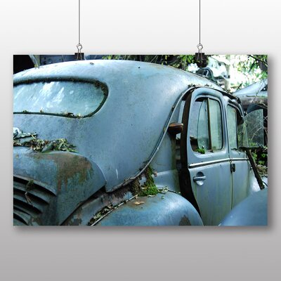 Big Box Art Vintage Classic Car Rusted No.9 Photographic Print