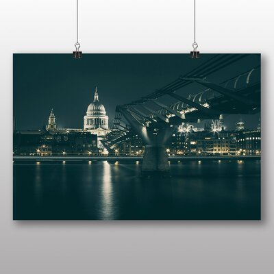 Big Box Art St Pauls Cathedral London Photographic Print Wrapped on Canvas