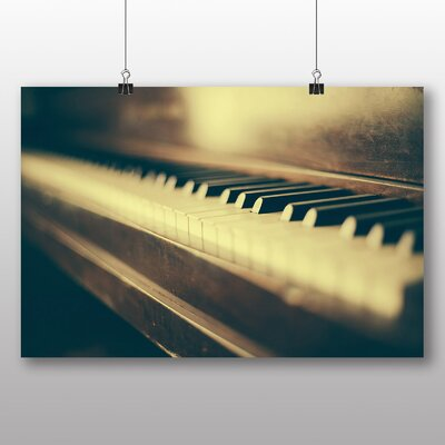 Big Box Art Vintage Piano No.4 Photographic Print Wrapped on Canvas