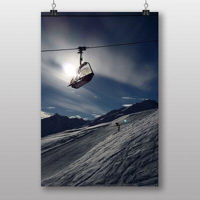 Big Box Art Ski Lift Skiing Snowboarding No.2 Photographic Print