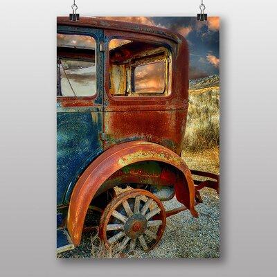 Big Box Art Vintage Classic Car Rusted No.7 Photographic Print