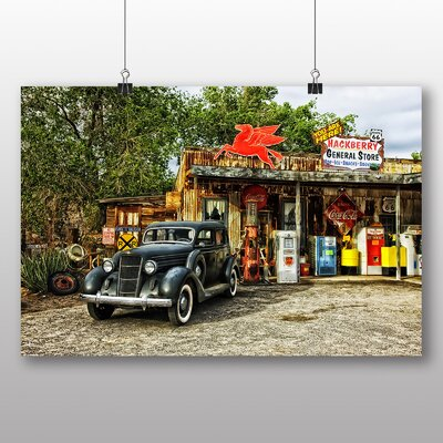 Big Box Art Vintage Classic Car No.2 Graphic Art Wrapped on Canvas