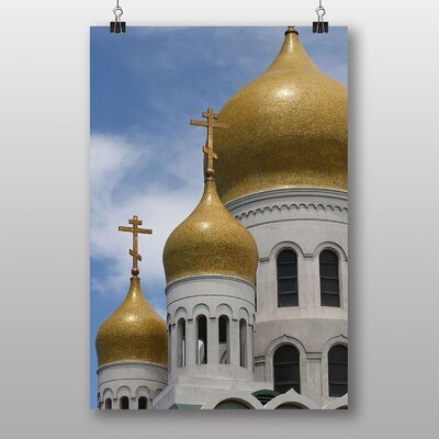 Big Box Art Russian Cathedral Domes Graphic Art on Canvas
