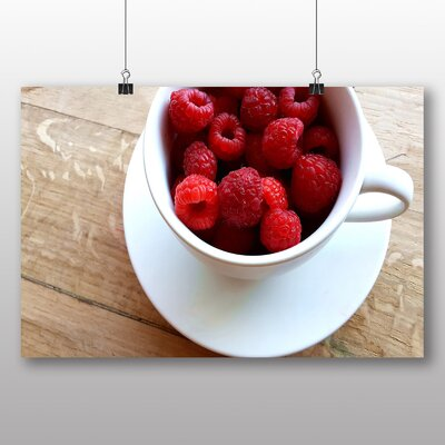 Big Box Art Rasberries in a Cup Photographic Print on Canvas