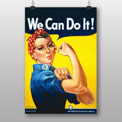 Big Box Art Rosie the Riveter We Can Do It War Poster' by J. Howard Miller Vintage Advertisement