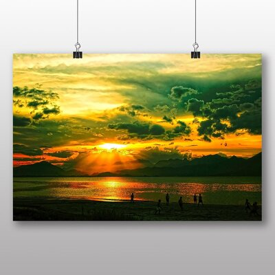 Big Box Art Sunset No.9 Photographic Print on Canvas