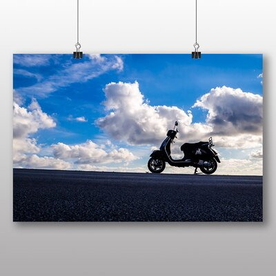 Big Box Art Vintage Scooter No.3 Photographic Print Wrapped on Canvas