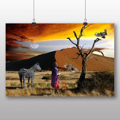 Big Box Art Safari Kenya Landscape Africa No.1 Photographic Print on Canvas