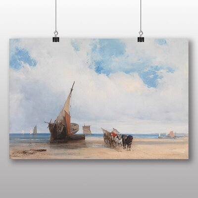 Big Box Art 'Beached Vesselsn Trouville France' by Richard Bonington Art Print