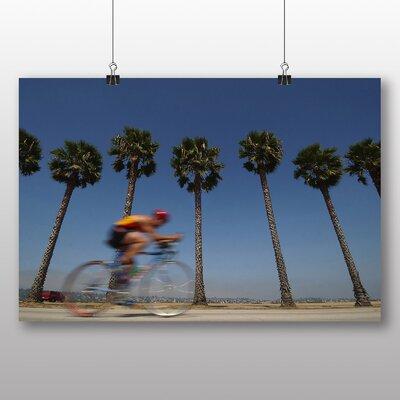 Big Box Art San Diego Cyclist California USA Photographic Print on Canvas