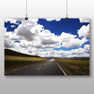 Big Box Art Road and Clouds No.2 Photographic Print on Canvas