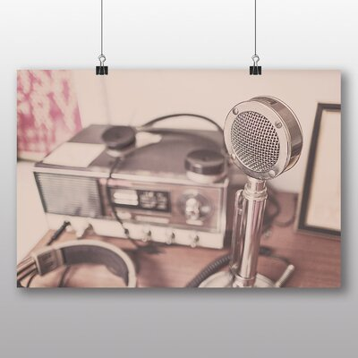 Big Box Art 'Vintage Radio and Microphone' Photographic Print