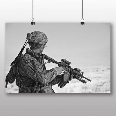 Big Box Art Soldier at War No.2 Photographic Print Wrapped on Canvas