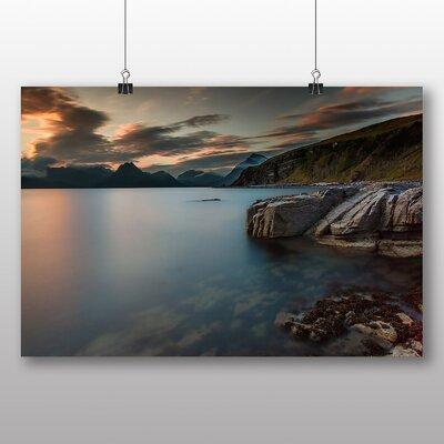 Big Box Art Sunset over Lake No.2 Photographic Print on Canvas